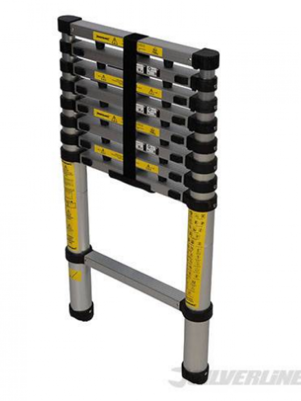 SilverLine Telescopic Ladder 2.6m 150kg 452123