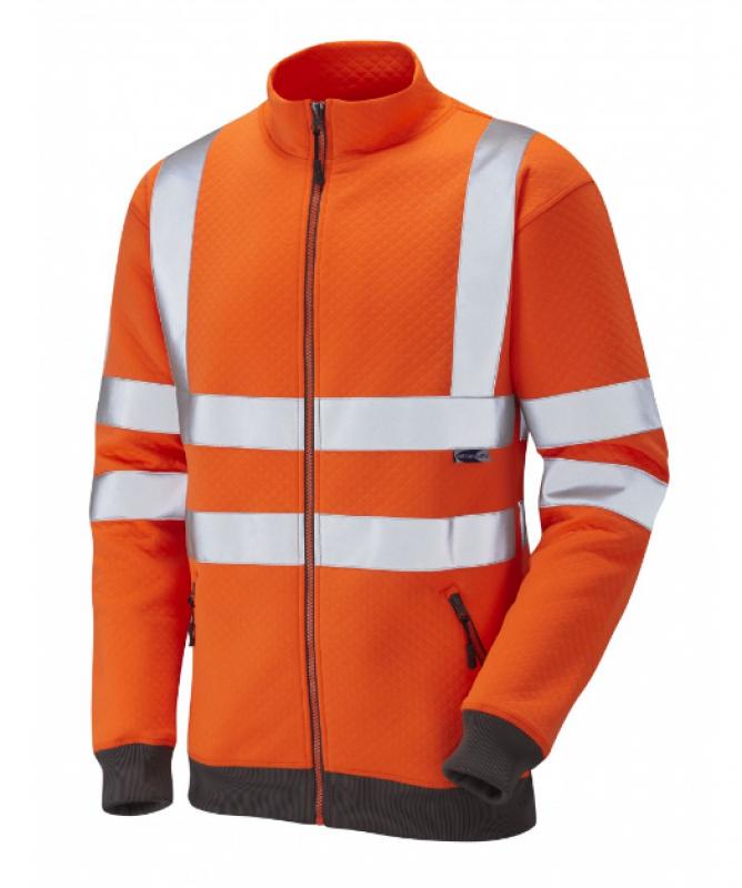 LEO LIBBATON ISO 20471 Class 3 Track Top Orange SS03-O