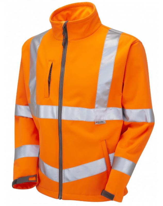 LEO BUCKLAND ISO 20471 Class 3 Softshell Jacket Orange