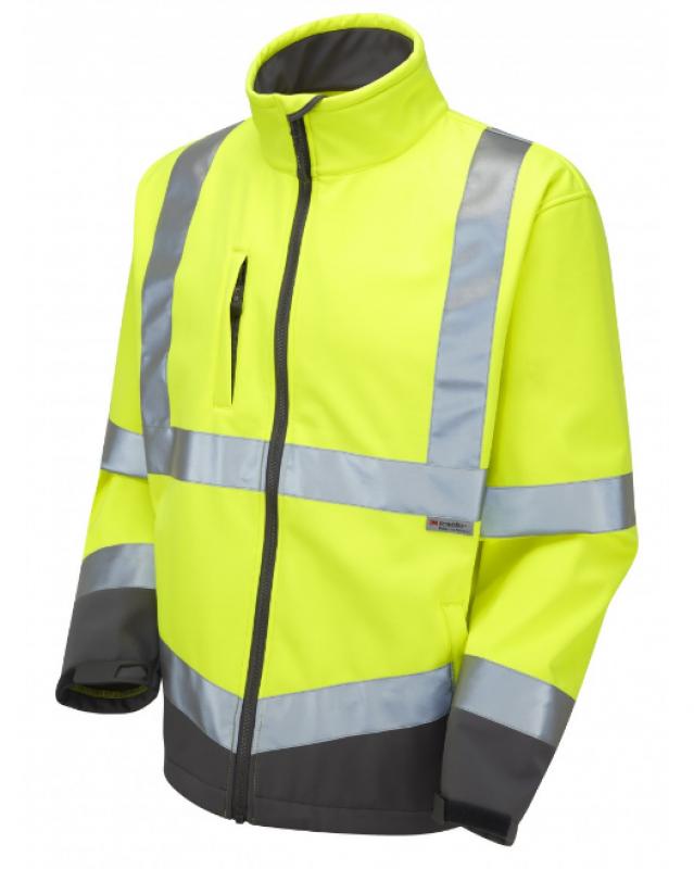 LEO BUCKLAND ISO 20471 Class 3 Softshell Jacket Yellow