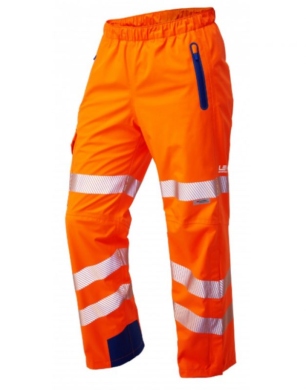 LEO LUNDY ISO 20471 Class 2 High Performance Waterproof Overtrouser Orange