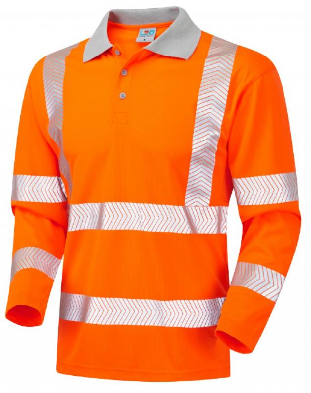 LEO BARRICANE ISO 20471 Class 3 Coolviz Plus Sleeved Polo Shirt