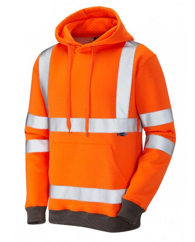 LEO GOODLEIGH ISO 20471 Class 3 Hooded Sweatshirt Orange