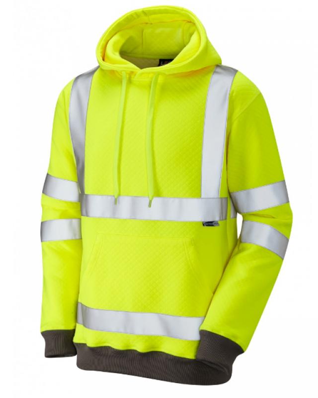 LEO GOODLEIGH ISO 20471 Class 3 Hooded Sweatshirt Yellow