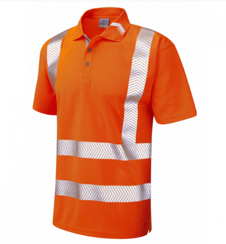 LEO Broadsands ISO 20471 Class 2 Coolviz Ultra Polo Shirt Orange