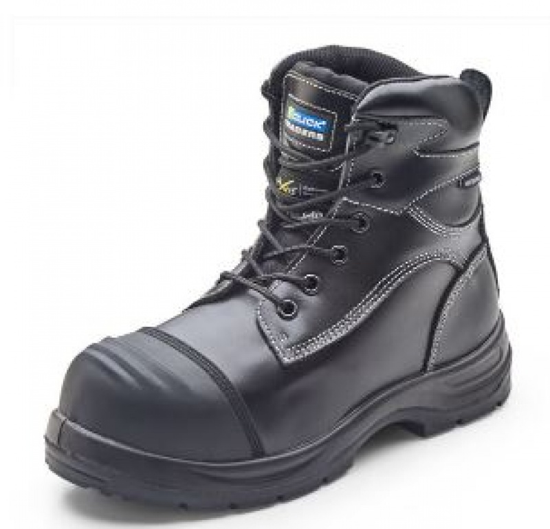 CLICK TRENCHER BOOT BLACK SAFETY CF66BL