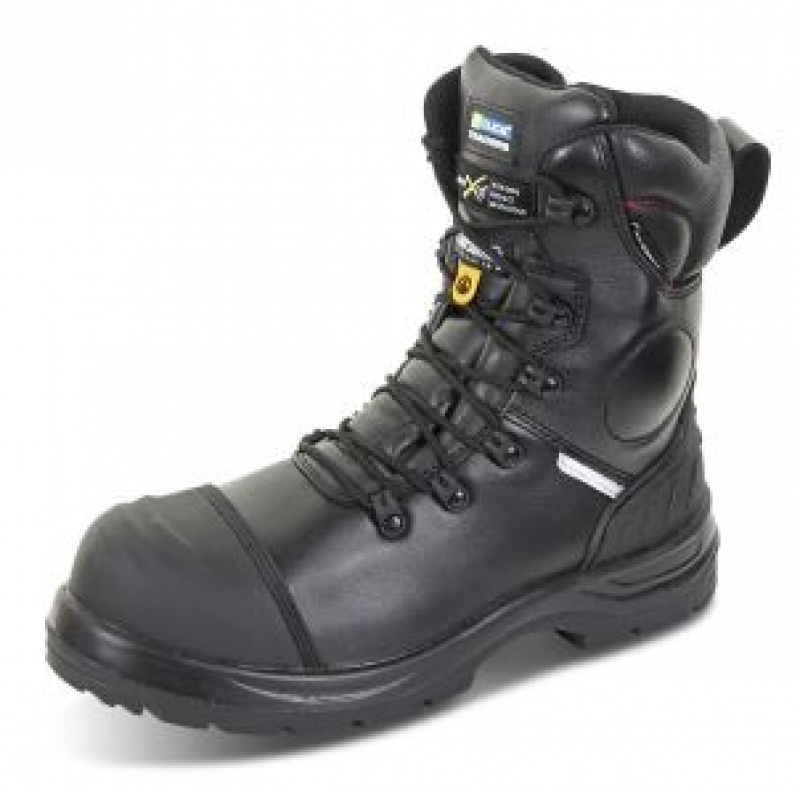 CLICK CLICK TRENCHER PLUS SIDE ZIP SAFETY BOOT BL