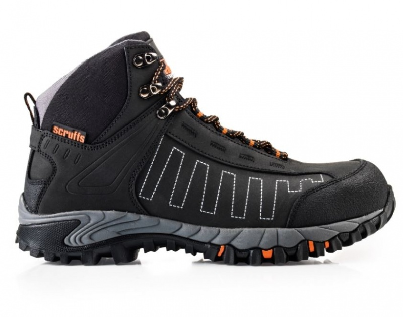 SCRUFFS CHEVIOT SAFETY BOOTS BLACK