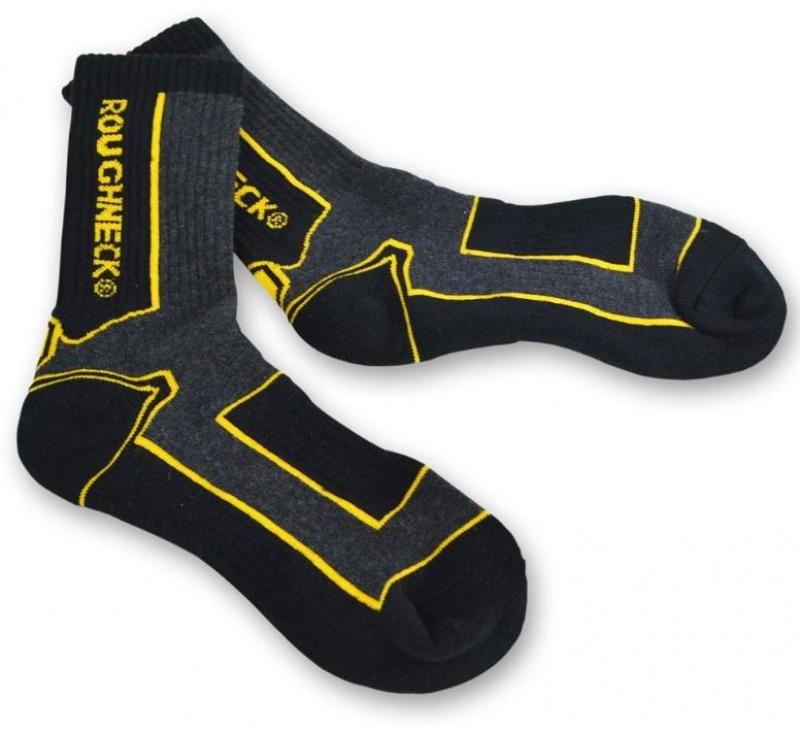 Roughneck Socks Twin Pack BLACK/GREY 6-12