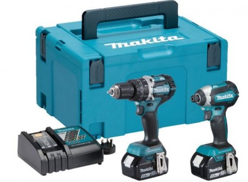 MAKITA DLX2180TJ POWER TOOL KIT 2-18V-5AH LI-ION BATTERIES