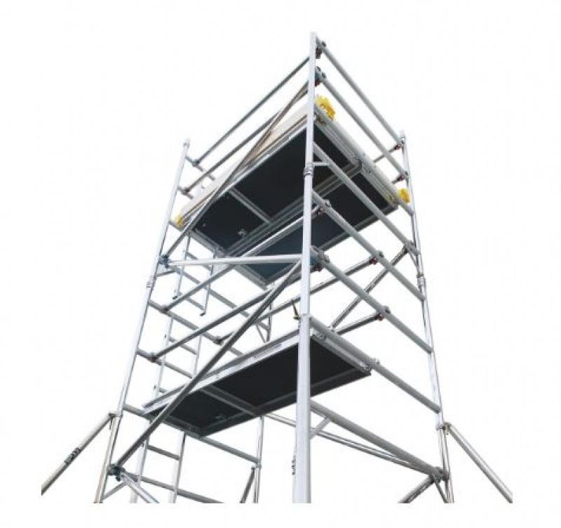 2.4 - 12.4 MTR ALUMINIUM SCAFFOLD TOWER  1.8 x 1.4 Span