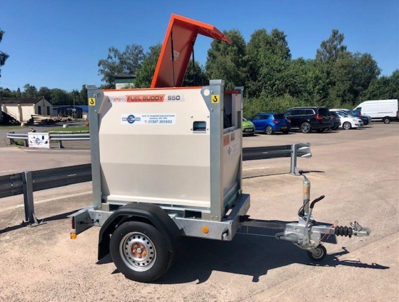 Fuel Buddy 950 Transportable Fuel Storage Tank with solar pump