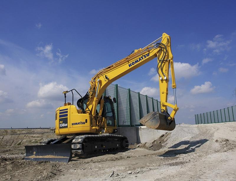 13T Komatsu PC138 Short Tail Swing Crawler Excavator